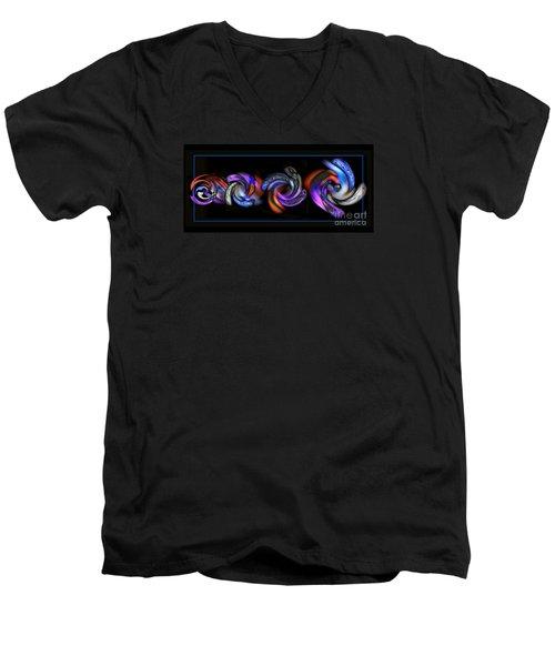 Wheels In Motion Men's V-Neck T-Shirt by Sue Stefanowicz