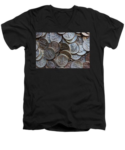 When Dimes Were Made Of Silver Men's V-Neck T-Shirt
