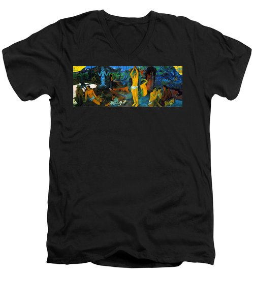Where Do We Come From. What Are We Doing. Where Are We Going Men's V-Neck T-Shirt by Paul Gauguin