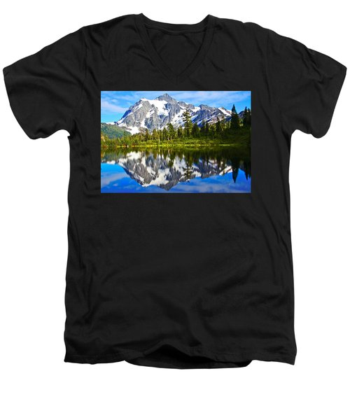 Men's V-Neck T-Shirt featuring the photograph Where Is Up And Where Is Down by Eti Reid