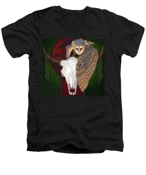 Where Once They Roamed Men's V-Neck T-Shirt by Pat Erickson