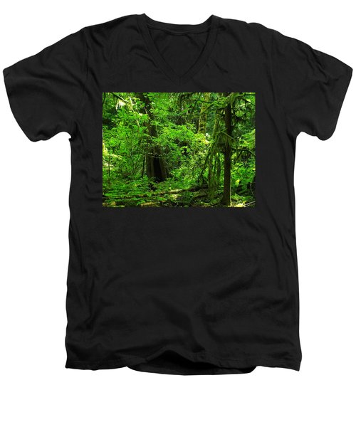 Where The Forest People Live Revised Men's V-Neck T-Shirt