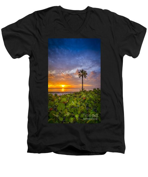 Where The Heart Is Men's V-Neck T-Shirt by Marvin Spates