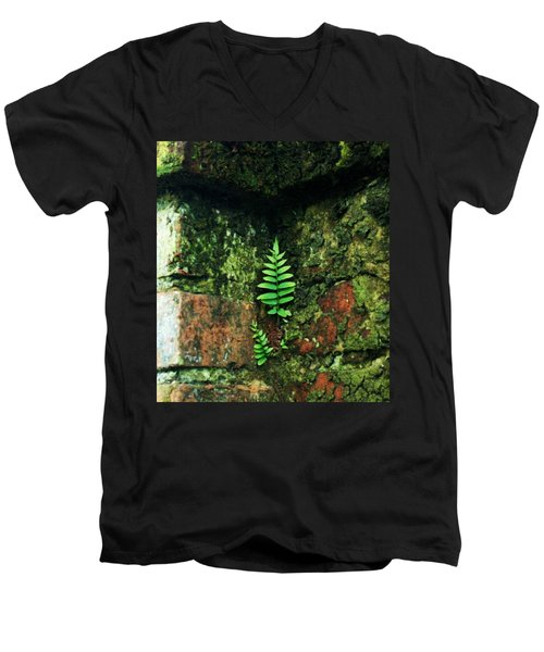 Men's V-Neck T-Shirt featuring the photograph Where There Is A Will by John Glass