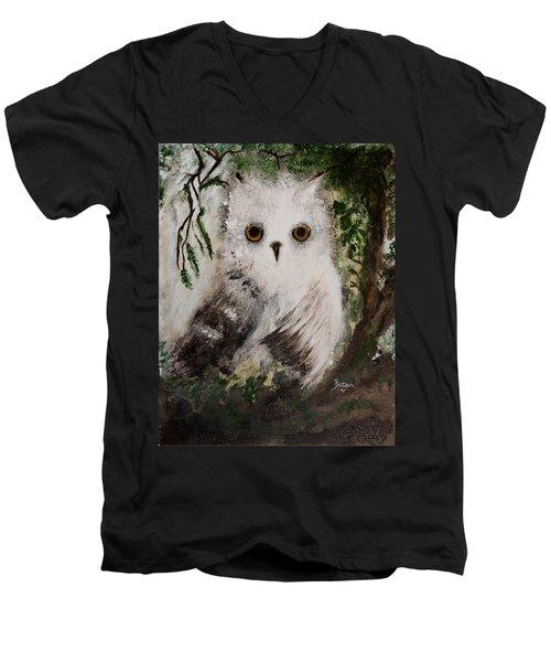 Whisper The Snowy Owl Men's V-Neck T-Shirt