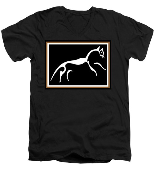 White Horse Of Uffington Men's V-Neck T-Shirt