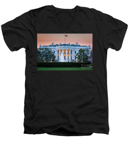 White House Men's V-Neck T-Shirt