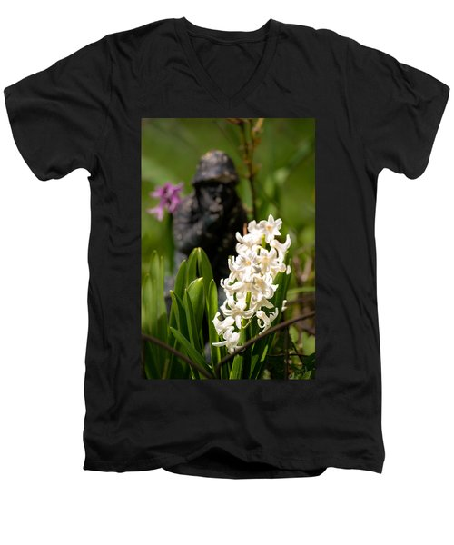 White Hyacinth In The Garden Men's V-Neck T-Shirt