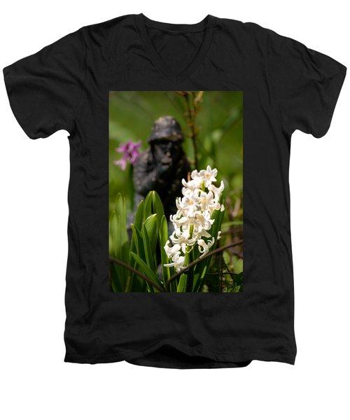 White Hyacinth In The Garden Men's V-Neck T-Shirt