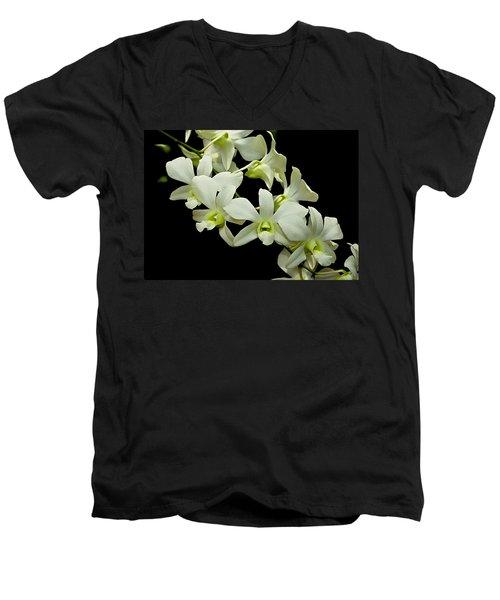 White Orchids Men's V-Neck T-Shirt