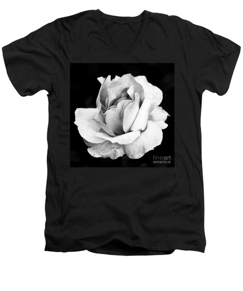 White Rose Men's V-Neck T-Shirt