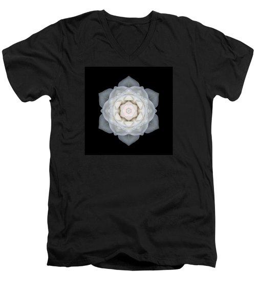 White Rose I Flower Mandala Men's V-Neck T-Shirt