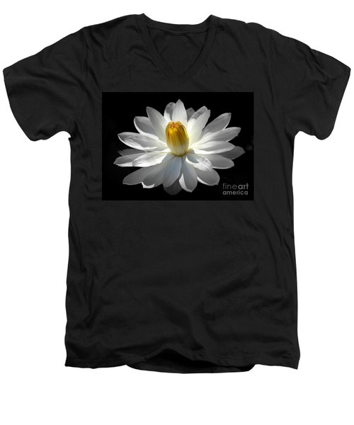 White Water Lily #2 Men's V-Neck T-Shirt