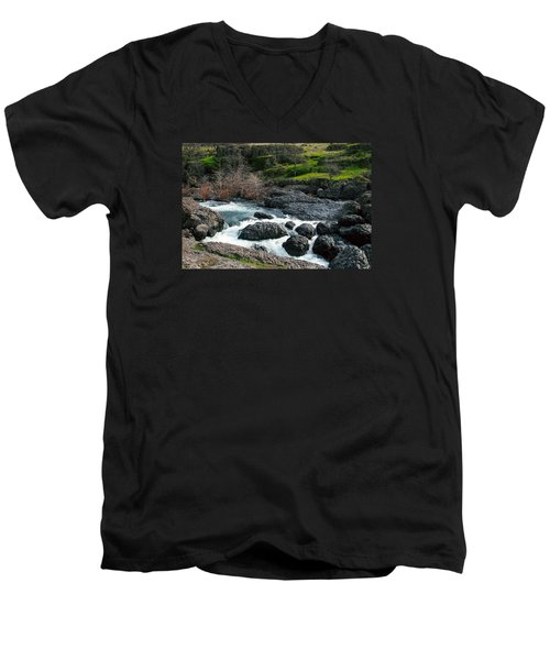 Whitewater At Bear Hole Men's V-Neck T-Shirt