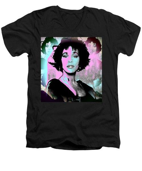 Whitney Houston Sing For Me Again Men's V-Neck T-Shirt