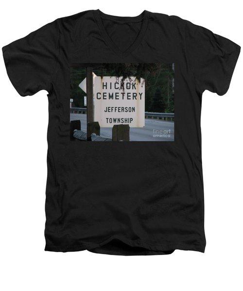 Men's V-Neck T-Shirt featuring the photograph Wild Bill Hickok by Michael Krek