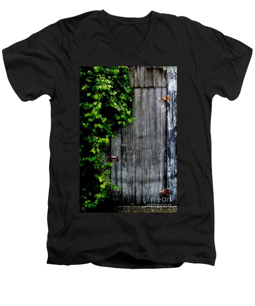 Wild Grape Vine Door Men's V-Neck T-Shirt