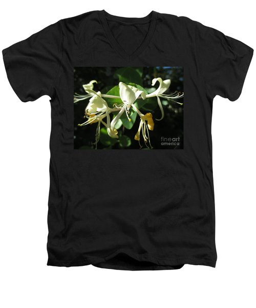 Wild Honeysuckle Men's V-Neck T-Shirt