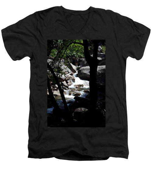 Men's V-Neck T-Shirt featuring the photograph Wild River by Brian Williamson