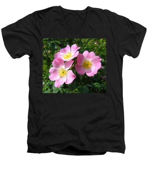 Wild Roses 1 Men's V-Neck T-Shirt