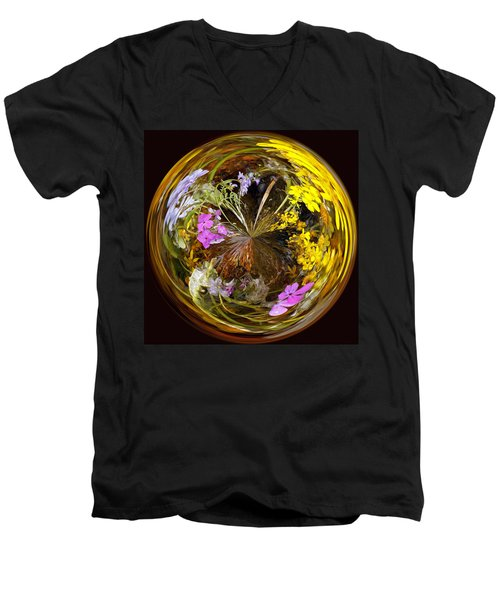 Men's V-Neck T-Shirt featuring the photograph Wildflower Paperweight by Gary Holmes