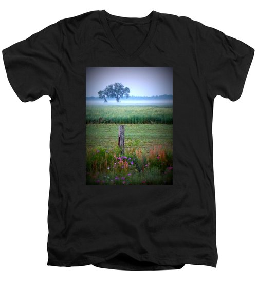 Wildflowers And Fog Men's V-Neck T-Shirt