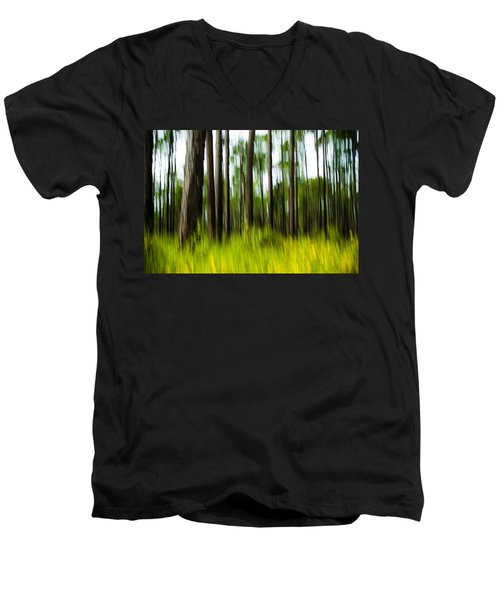 Wildflowers In The Forest Men's V-Neck T-Shirt