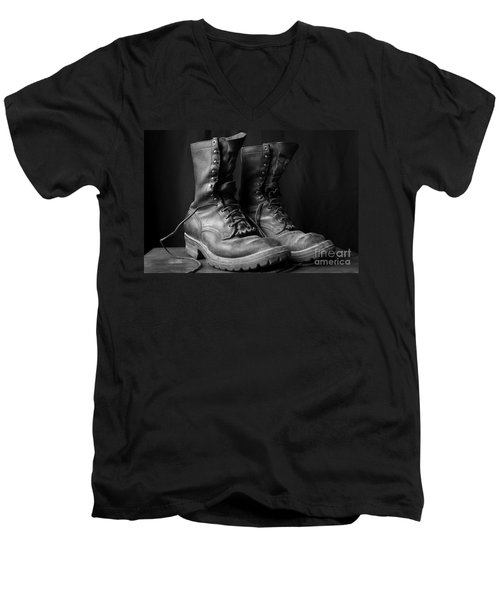 Wildland Fire Boots Still Life Men's V-Neck T-Shirt