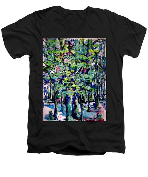 Will His Playground Exsist? Men's V-Neck T-Shirt
