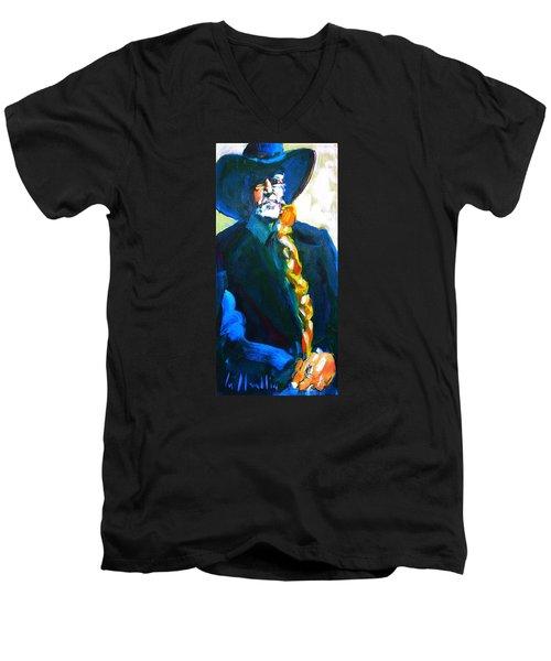 Willie Men's V-Neck T-Shirt by Les Leffingwell