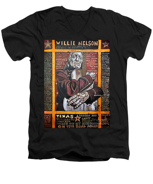 Willie Nelson Men's V-Neck T-Shirt