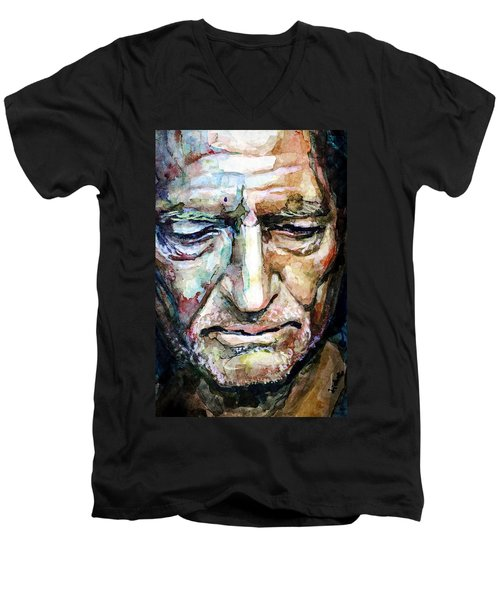 Willie Nelson  Portrait Men's V-Neck T-Shirt