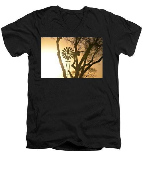 Spinning In The Sundown Men's V-Neck T-Shirt