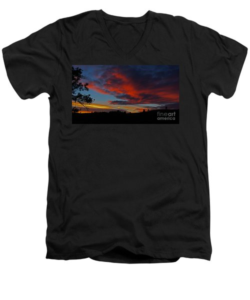 Black Hills Sunset Men's V-Neck T-Shirt