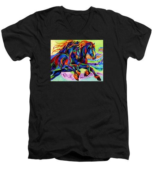 Wind Dancers Men's V-Neck T-Shirt by Sherry Shipley