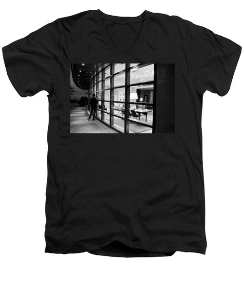 Window Shopping In The Dark Men's V-Neck T-Shirt