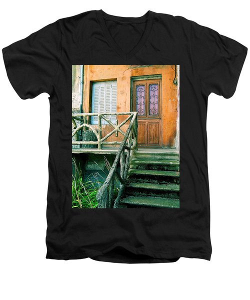 Men's V-Neck T-Shirt featuring the photograph Windows And Doors 25 by Maria Huntley