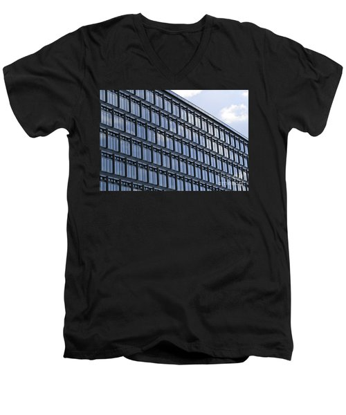 Men's V-Neck T-Shirt featuring the photograph Windows In Copenhagen by Victoria Harrington