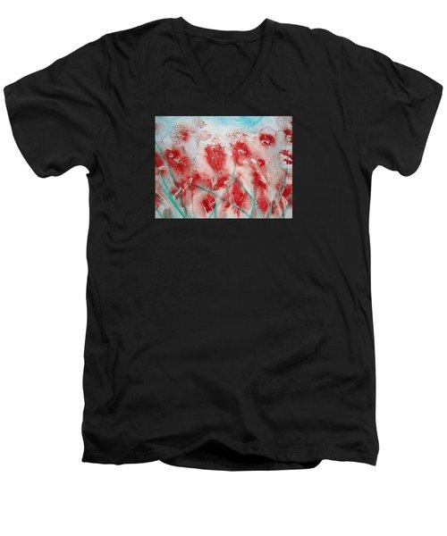 Windy Day Men's V-Neck T-Shirt by Elvira Ingram