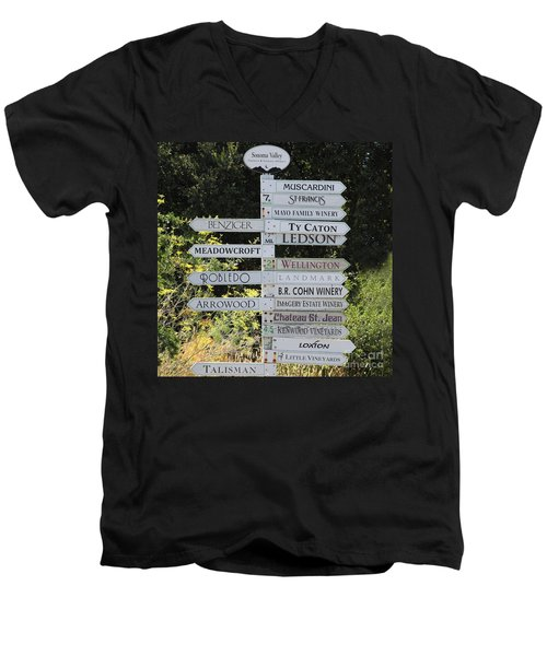 Winery Street Sign In The Sonoma California Wine Country 5d24601 Square Men's V-Neck T-Shirt