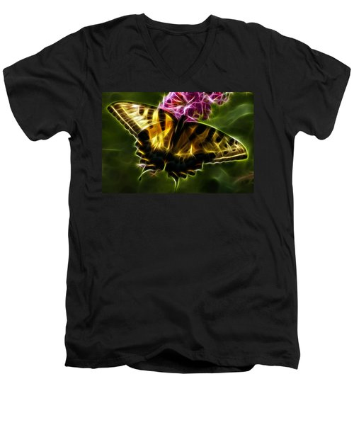 Winged Beauty Men's V-Neck T-Shirt by Joann Copeland-Paul