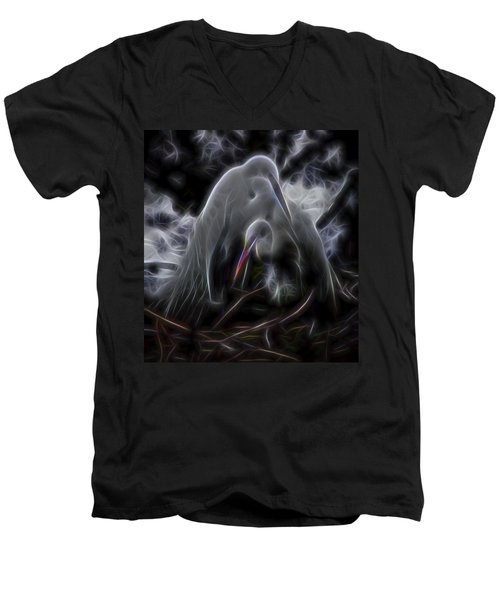 Winged Romance 1 Men's V-Neck T-Shirt by William Horden
