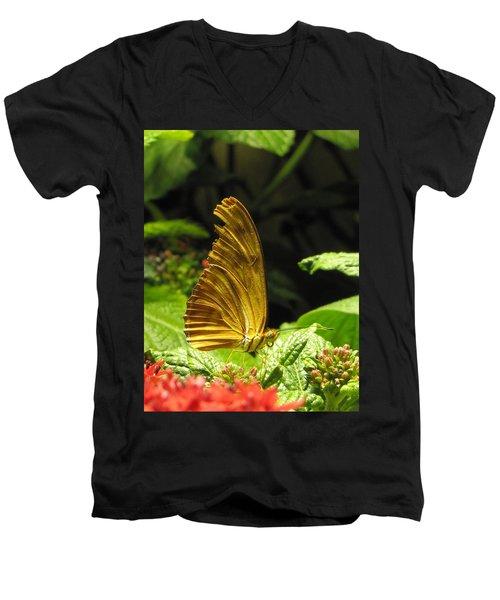 Wings Of Gold Men's V-Neck T-Shirt by Jennifer Wheatley Wolf