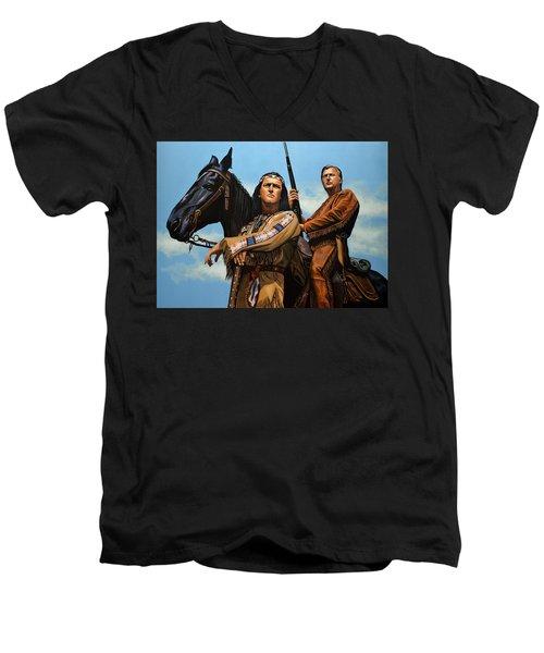 Winnetou And Old Shatterhand Men's V-Neck T-Shirt