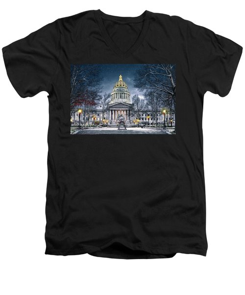 Winter At The Capitol Men's V-Neck T-Shirt