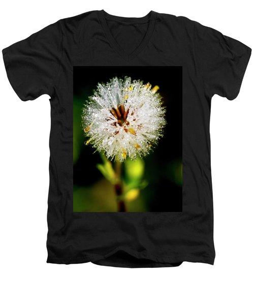 Men's V-Neck T-Shirt featuring the photograph Winter Dandelion by Pedro Cardona