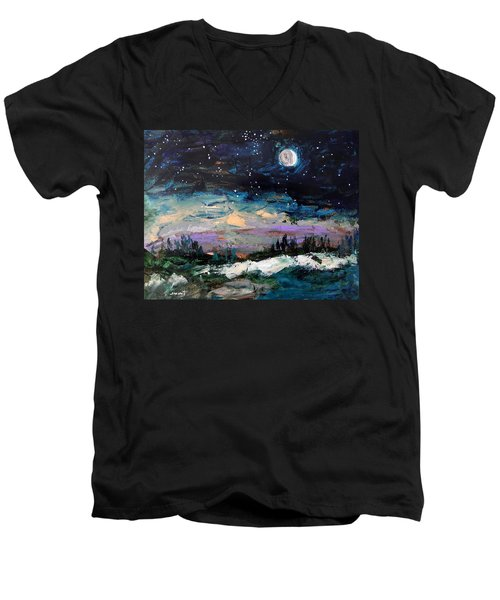 Winter Eclipse Men's V-Neck T-Shirt