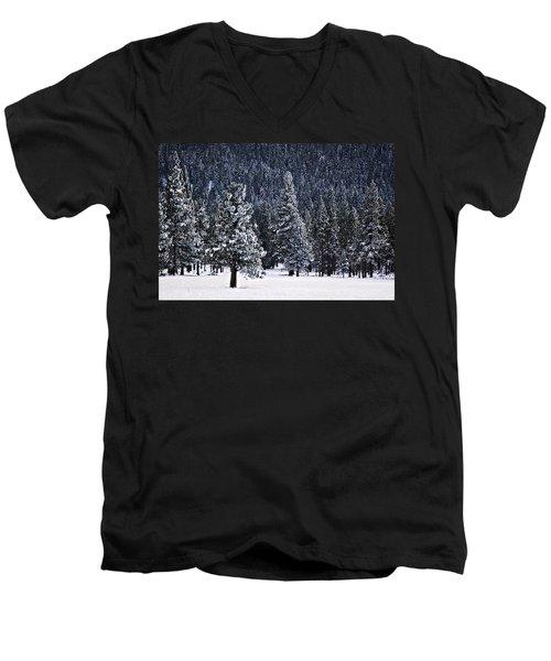 Winter Wonderland Men's V-Neck T-Shirt by Melanie Lankford Photography