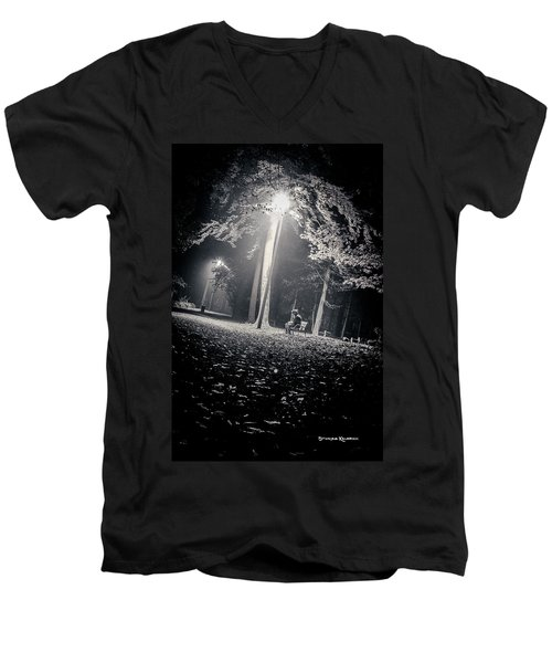 Men's V-Neck T-Shirt featuring the photograph Wish You Were Alone by Stwayne Keubrick