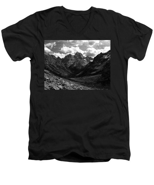 Men's V-Neck T-Shirt featuring the photograph Within The North Fork Of Cascade Canyon by Raymond Salani III
